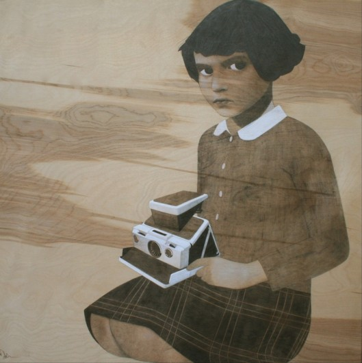 """camera girl"" Sean Mahan Art"