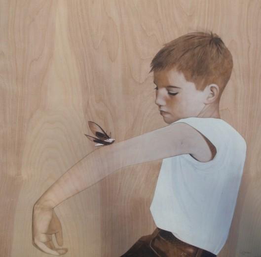 """dead moth"" Sean Mahan Art"