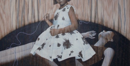 """girl and thread"" Sean Mahan Art"