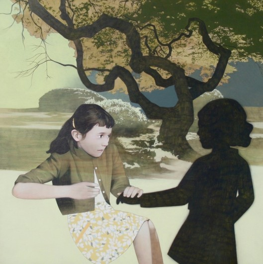 """girl and tree"" Sean Mahan Art"